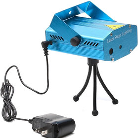 Stylopunk Mini Metal Multicolor Electric Laser Projector Cum Par Light 4 LED RBGW Stage Lighting for Party and DJ For Diwali