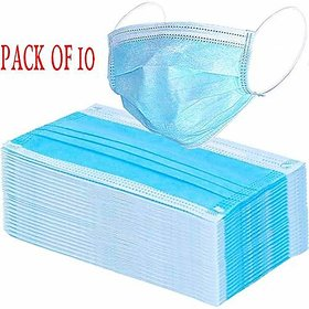 SCORIA Disposable 3 Ply Surgical Air Pollution Face Mask Protected for COVID-19 Coronavirus (10 Pcs)