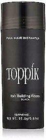 Toppik Hair Building Fibers 27.5 G Black Color Hair Fiber Lose Concealer (New Black Bottle)