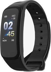 Maxim Smartband C1 Plus Multi-Function with Health Monitor Smart Fitness Wrist Band Bracelet(Black)
