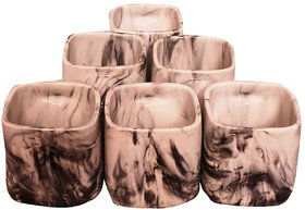 Clay Tea and Coffee Cups (marble mugs Set of 6)