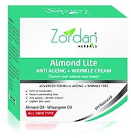 Zordan Herbals Almond lite Anti Ageing + Wrinkle Cream (50 gm x 2) Pack Of 2