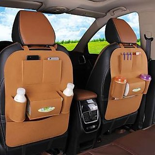Gaze Me Multi Pocket Organizer for Front Seat Side Brown
