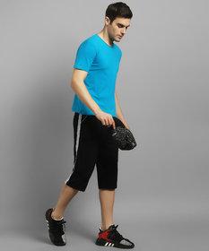 KETEX Black sports wear / casual wear Capri/ 3/4th for men's (Free Size- 26 to 32)