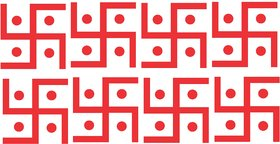 Diwali Decorative Sticker Rangoli Sticker Deepak Floor Sticker Diwali Combo Wall Sticker  Decal (PVC Vinyl, Size- 12 CMX 12 CM)