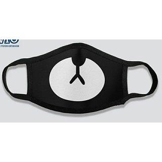 Designer Mask - Teddy Face (Black) set of 3