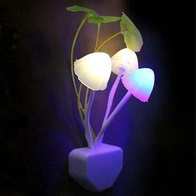 Automatic Sensor (on/off) Night Lights Flower Mushroom LED Lamp Bedroom Colourful Decorative Night Lamp