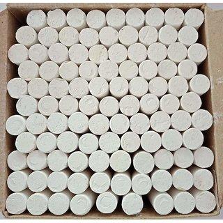 Divine Décor Dustless Chalks White 100 Pcs (Pack Of 1)