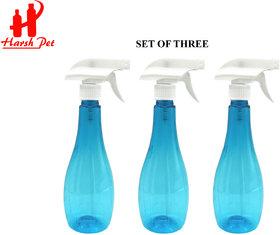 Harsh Pet 500ml Empty Refillable Neer Trigger Spray Bottle Blue Set of 3
