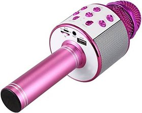 Ws-858 Karaoke Microphone Mic For Singing Recording,Handheld Mike Portable Speaker