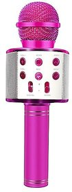 WS-858 Bluetooth Microphone Recording Condenser Handheld Stand with Speaker for Cellphone