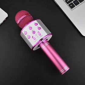 WS-858 Wireless Microphone HiFiSpeaker-Pink Wireless PA Microphones