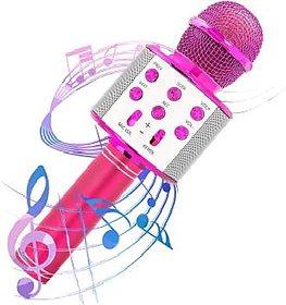 Ws-858 Wireless Bluetooth Karaoke Mic Singing Microphone Player Speaker Ktv Microphone USB