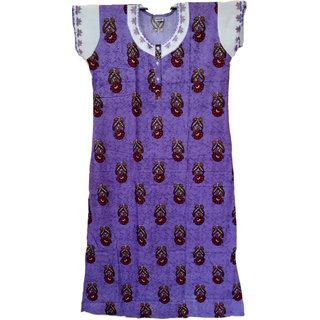 Raksitha Cotton - Women's 100 Cotton  Nighty/Nightwear/Night Dress/Sleepwear/Gown for Utmost Comfort - Nighty XL 55