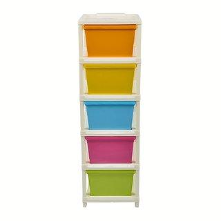 chest modular multicolor 5 pcs drawer