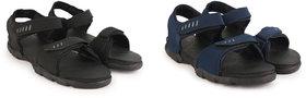 Richale Black+Blue Combo Sandal For Men