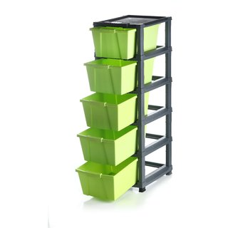 chest modular Green 5 pcs drawer