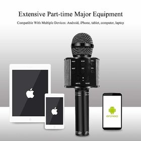 WS-858 WIRELESS BLUETOOTH MIKE  FOR KARAOKE SINGING, BEST SOUND QUALITY FOR PARTIES, GET TOGETHER