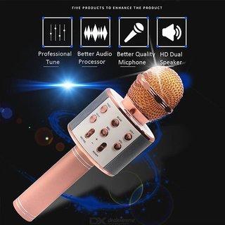 WS-858 Wireless Microphone HiFiSpeaker-Rose Gold Wireless PA Microphones