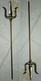 Tradition Brass Trishul Set of 2 (35 cm) by Dorvik Enterprises