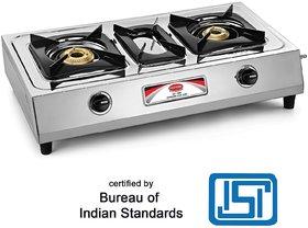 Padmini 2 Burner Stainless Steel Gas Stove CS 203 (ISI Mark)