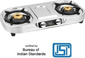Padmini 2 Burner Stainless Steel Gas Stove CS 207 (ISI Mark)
