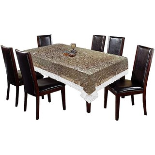 BLUE GRACE 3D Bubble Design PVC 2 to 4 seater Centre Table cover with White Border,size 40x60 inches