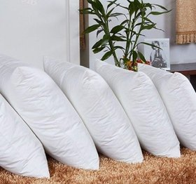 THE HOME STYLE Cotton Vaccum White Cushion Fillers (Set of 5) (12X12 INCH)