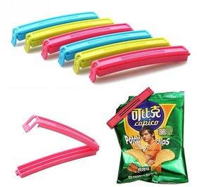 gayatri 18pc Plastic Seal Clips Multicolor Bag Fresh-Keeping Clamp Sealer for Food and Snack Bag(small,medium,big)