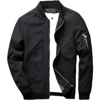 Pause Men Hand Zip Bomber Jacket
