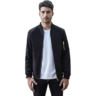 Pause Men Hand Zip Bomber Jacket