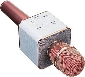 Wireless Karaoke Mic Q7 With Attach Bluetooth Speaker And Echo Function, 2600 mAh Battery