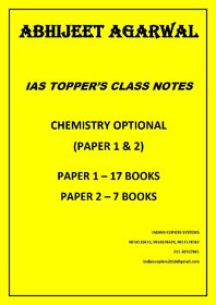 Abhijeet Agarwal IAS Topper Chemistry Optional Class Notes