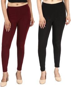 Aiyra Women's Multi Color Printed Legging -  (Pack of 2)