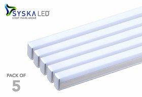 AFFIX  ENTERPRISES sys-ka led tubelight 20 watt 4 feet warm light pack of 5