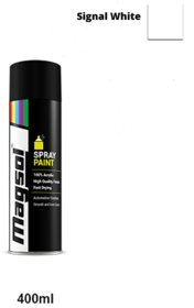 MAGSOL Spray Paint Signal White  - Multipurpose Use Spray Paint For Car and Bike ( 400ml, Signal White)