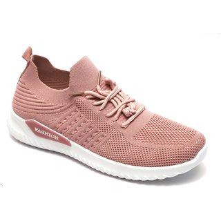 Women's Walking Shoes Sock Sneakers - Fabric Slip On Air Cushion Lady Girls Modern Jazz Dance Easy Shoes