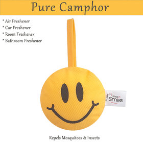 shopNsmile Camfresh Pure Camphor Smiley - Car, Room   Air freshener, Mosquito  Insect Repellent