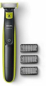 Philips OneBlade QP2525/10 Trimmer for Men  (Black, Green)
