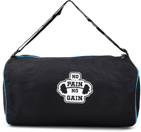 Proera Unisex No Pain No Gain 20 Litres Black & Red Duffel/Gym/ Travelling Bag