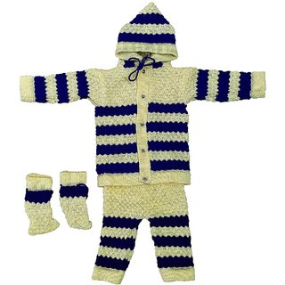 Heights Baby Boys  Baby Girls Casual Sweater, Pyjama, Booties (Set of 1/0-6 Months)