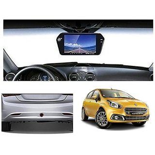 After Cars 7 Inch Full HD Bluetooth Back Mirror Monitor Screen without Camera for Punto Evo Car