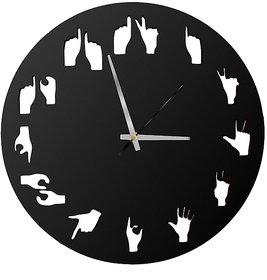 POCKESTER Analog 28 cm X 28 cm Wall Clock (Black, Without Glass)