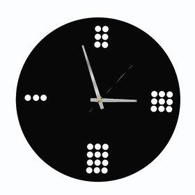 POCKESTER Analog 28 cm X 28 cm Wall Clock(Black, Without Glass)