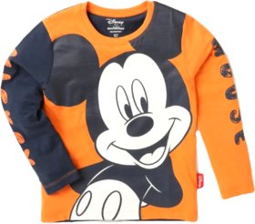 Disney Boys Cotton Printed Round Neck Tshirts