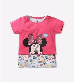 Disney Girls Cotton Minni Mouse T-shirt