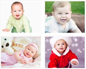Cute Baby's Boy Poster for Pregnant Women 1(300 GSM Paper, 12x18 Inches each, Multicolour) -Combo Set of 4