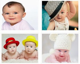 Cute Baby's Boy Poster for Pregnant Women 32(300 GSM Paper, 12x18 Inches each, Multicolour) -Combo Set of 4