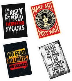 Motivation Quote Inspirational Posters (12 in x 18 in Size)121 Multicolour, Set of 4