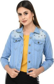 preserve Light Blue Pearls Denim Jacket
